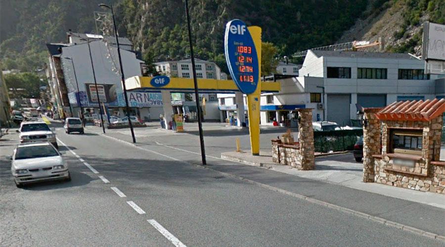 Avinguda d'Enclar de Santa Coloma on s'ha produït l'accident