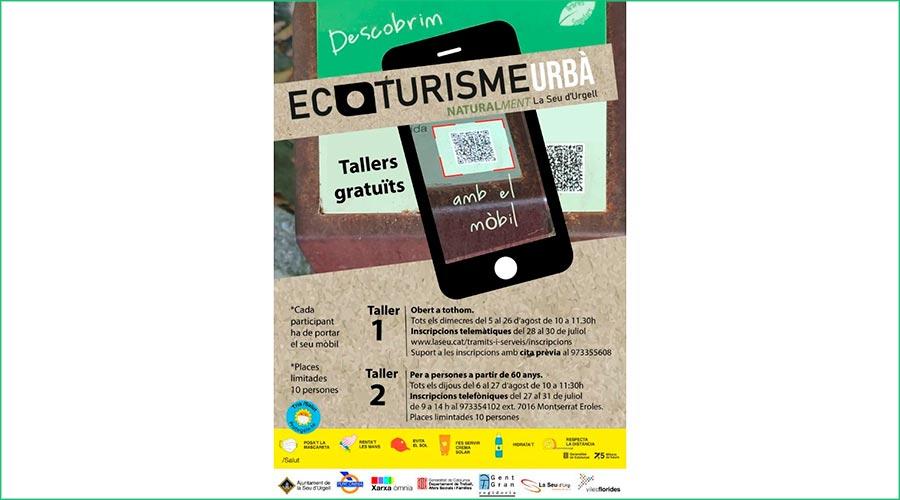 Cartell dels tallers d'ecoturisme de la Seu d'Urgell