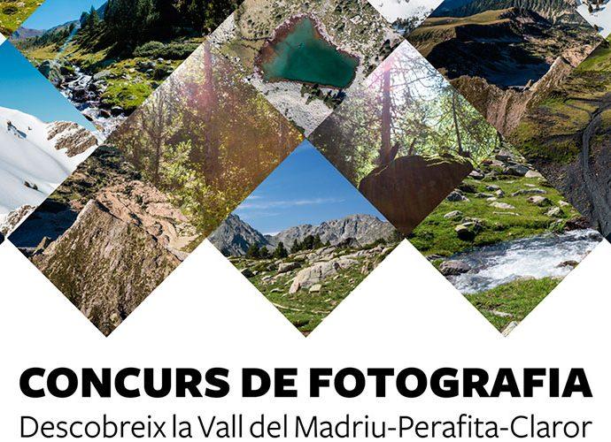 Cartell del concurs de fotografia de la vall del Madriu
