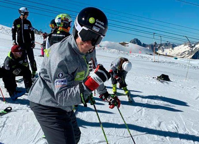L'equip de la FAE a Deux Alpes