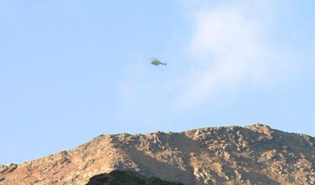 Helicòpter en un rescat