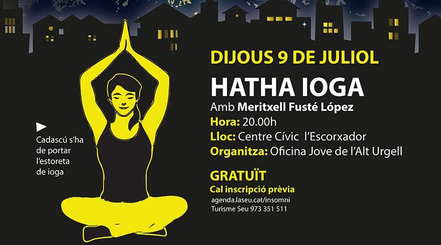 Cartell de la sessió de ioga
