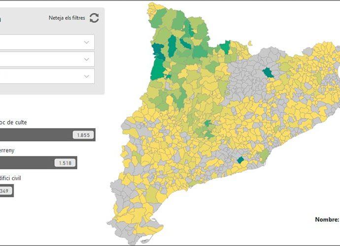 Mapa d'immatriculacions a Catalunya
