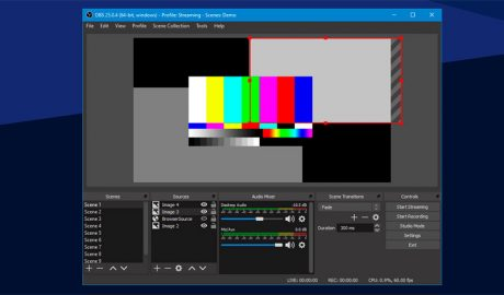 El programa Open Broadcaster Software (OBS)