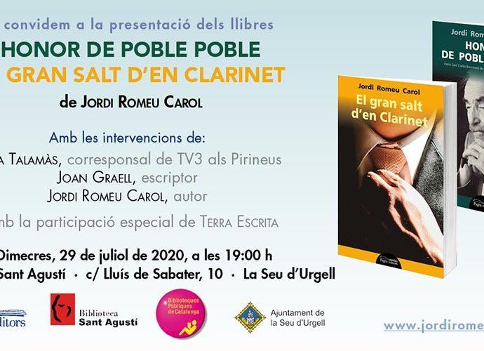 Presentació dels llibres 'honor de Poble i 'El gran salt d'en Clarinet'