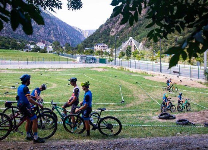 El camp de BTT de l'avinguda d'Enclar, a la parròquia d'Andorra la Vella