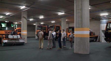 Les instal·lacions del COEX a la rotonda del túnel de les Dos Valires