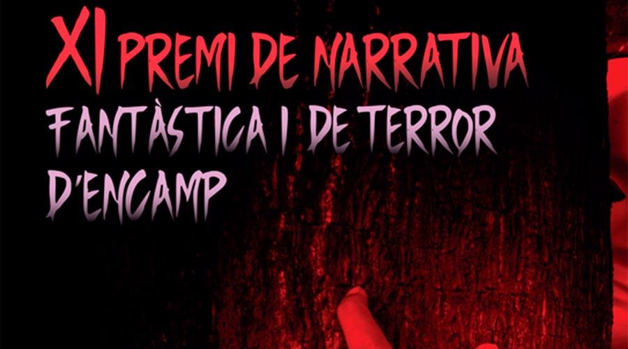 Part del cartell del XI Premi de narrativa fantàstica i de terror d'Encamp