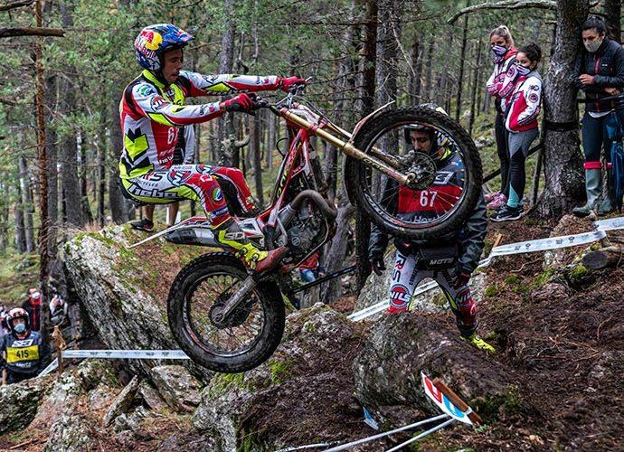 Adam Raga en una prova del Campionat del Món de Trial disputada a Sant Julià de Lòria