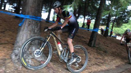 Kilian Folguera en una cursa a Valladolid