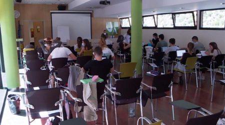 Una classe a la Universitat d'Andorra