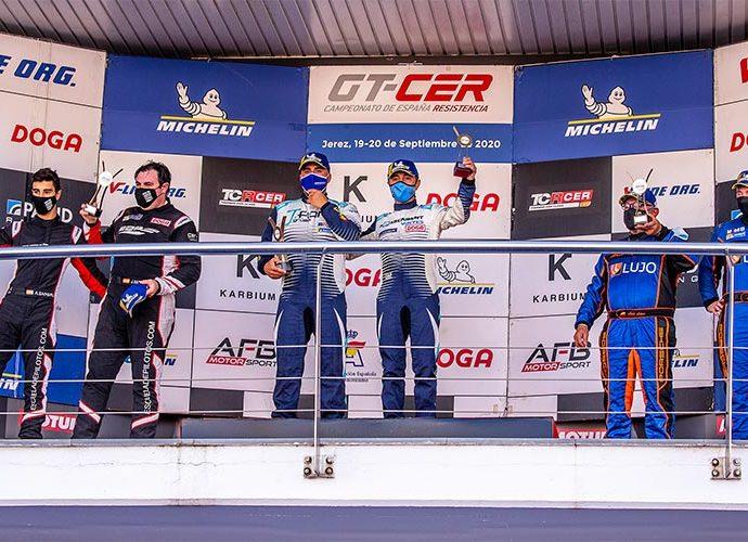 Font i Vinyes al calaix més alt del podi al circuit de Jerez