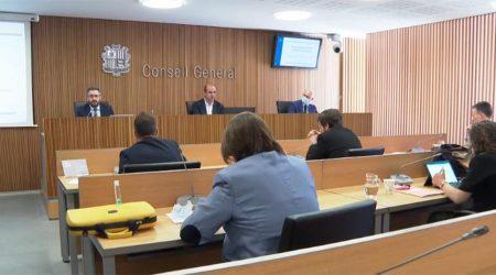 El ministre de Finances, Eric Jover, compareix a la comissió legislativa de Finances i Pressupost