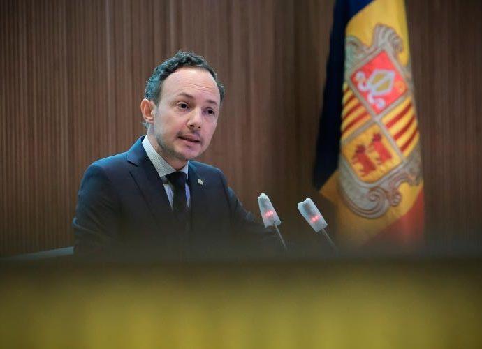Xavier Espot intervenint al Consell General
