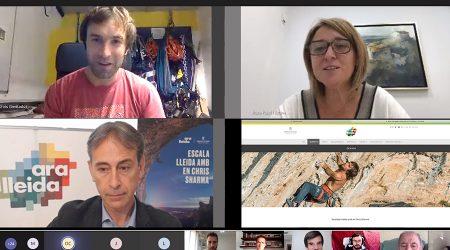 Presentació de la guia d'escalada del Pirineu i de les Terres de Lleida, amb Chris Sharma