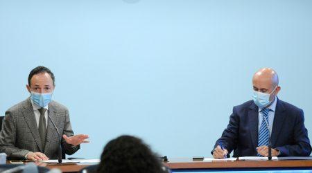 El cap de Govern, Xavier Espot, i el titular de Salut, Joan Martínez Benazet