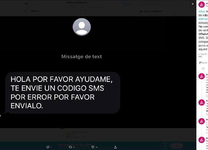 Imatgede l'alerta llançada per Andorra Telecom a xarxes socials
