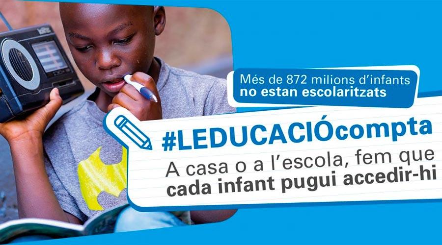 """Imatge de la campanya """"L'educació compta"""" d'Unicef"""