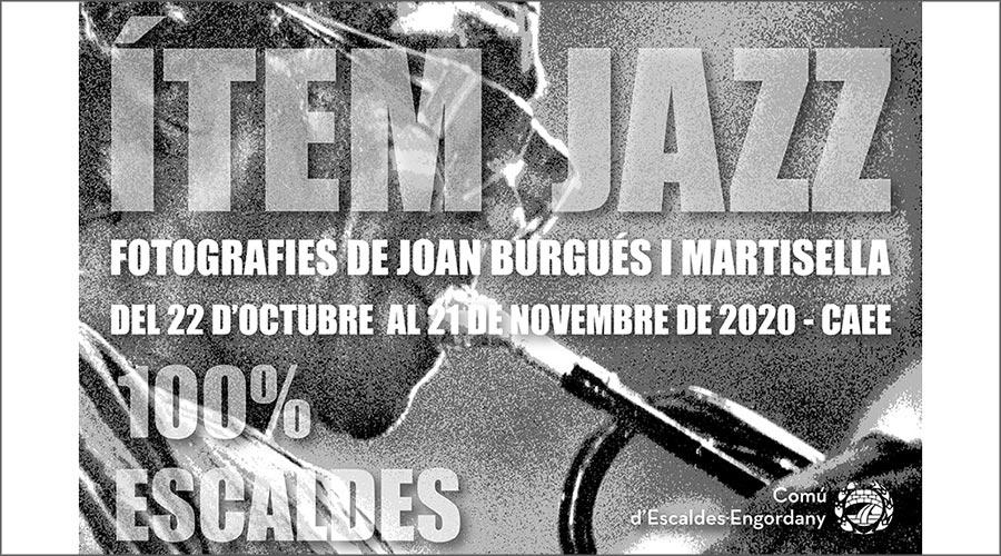 Cartell anunciant l'exposició Ítem Jazz