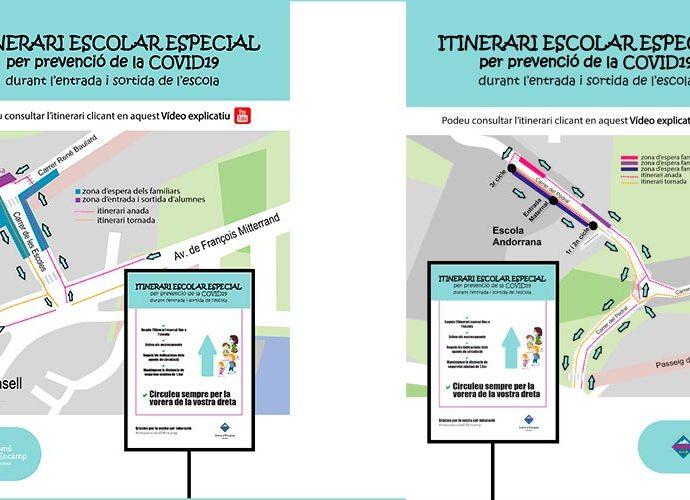 Els itineraris especials d'entrada i sortida de les escoles de primera ensenyança d'Encamp
