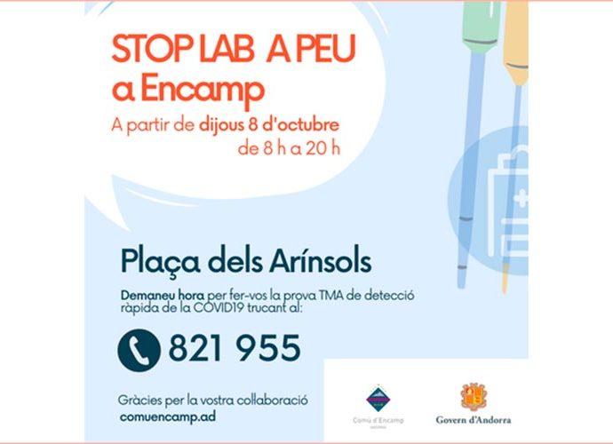 Publicitat de l'stoplab d'Encamp