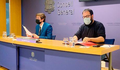 els consellers generals del grup parlamentari socialdemòcrata, Roger Padreny i Carles Sánchez.