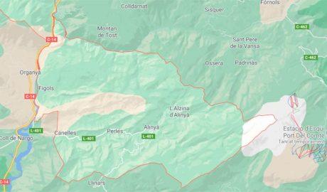 Terme municipal de Fígols i Alinyà (Google Maps)