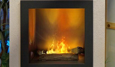 Xemeneia o llar de foc de gas